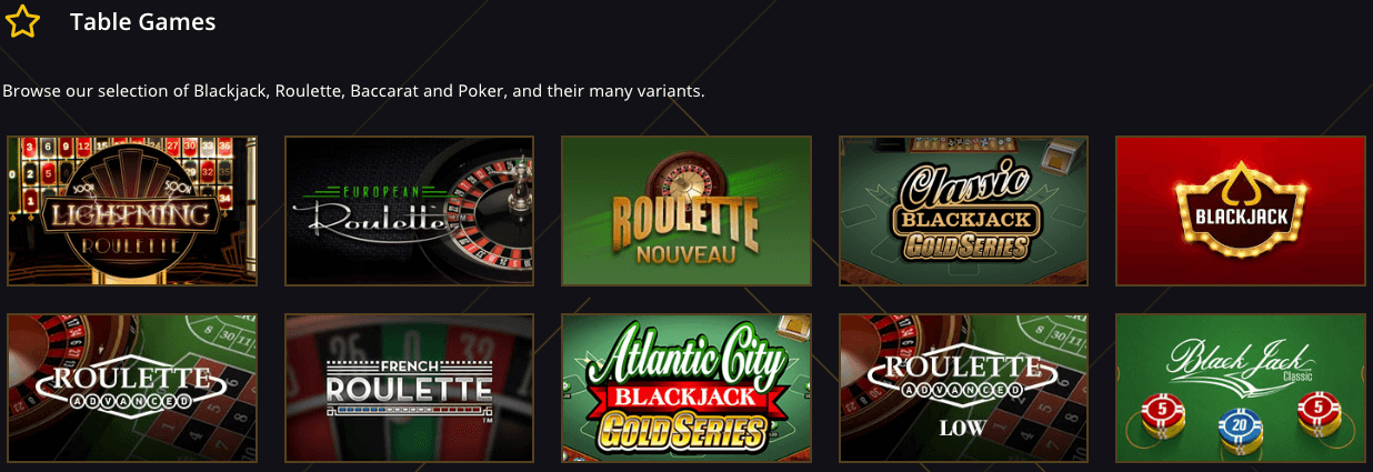 21 Casino Table Games