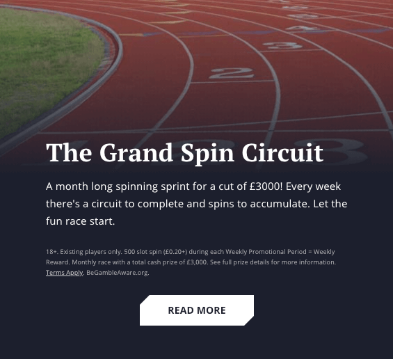 21 casino bonus the grand spin circuit