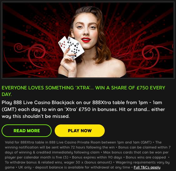 Bonus live casino 2