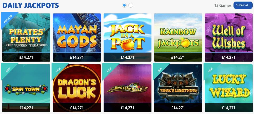 GBO jackpots
