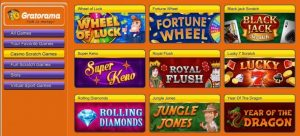 Gratorama Games - Wheel of luck, Blackjack, Super Keno ...