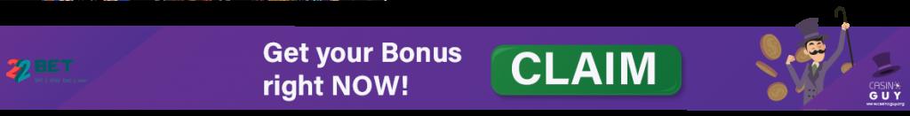 bannière bonus 22 bet