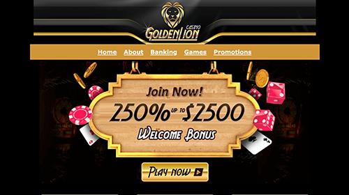 golden lion casino join