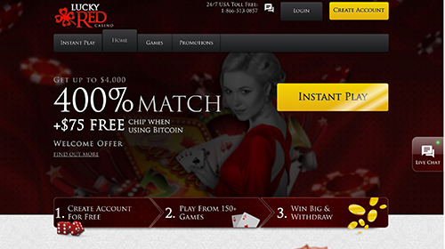 lucky red casino join