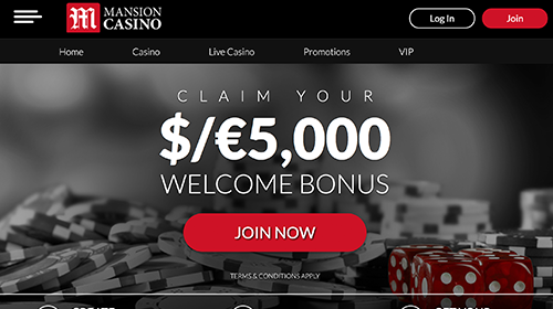 mansion casino online
