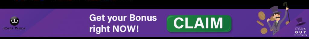 bannière bonus royal panda