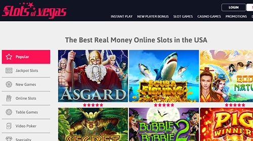 slots of vegas casino games