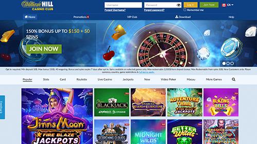 william hill casino online