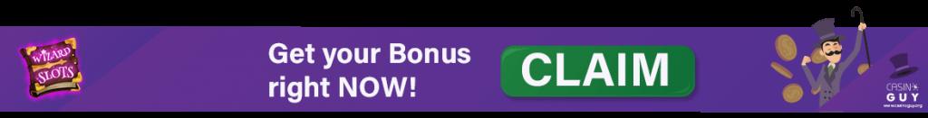 wizard slot casino bonus