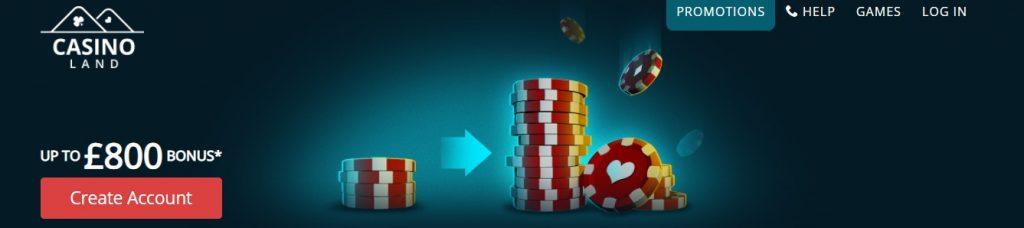 screenshot casinoland bonus