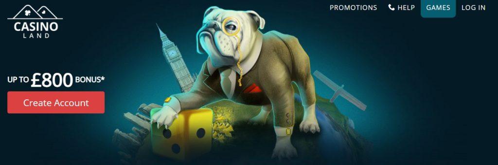 screenshot casinoland interface