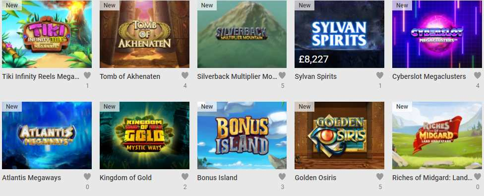 screenshot unibet games