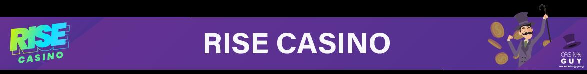 rise casino banner