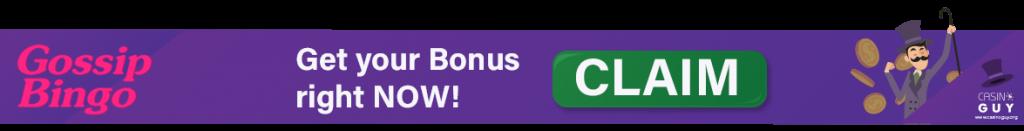 banner gossip bingo bonus