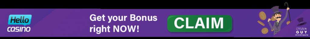 hello casino banner bonus
