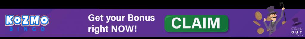 kozmo bingo banner claim