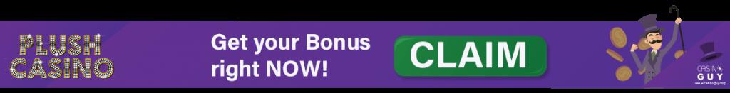 plush casino banner claim