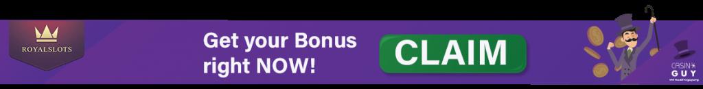 royal slots banner bonus