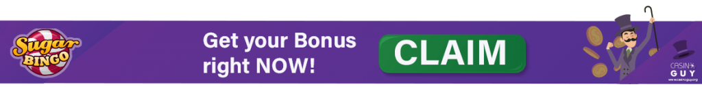 sugar bingo banner bonus