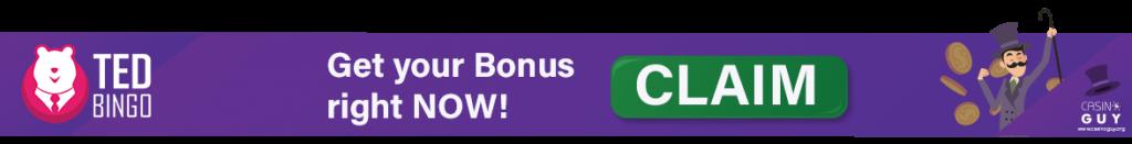 ted bingo banner bonus