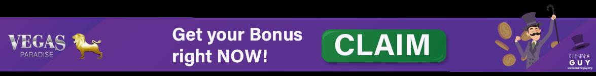 banner vegas paradise bonus claim