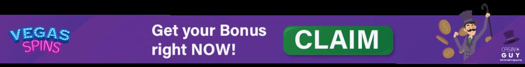 vegas spins banner bonus