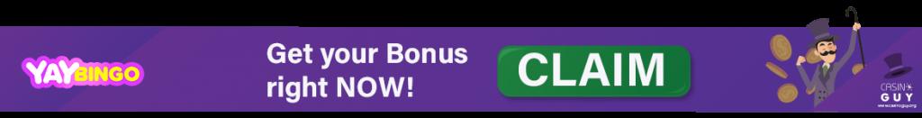 yay bingo bonus banner