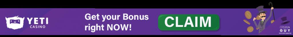 yeti casino banner bonus