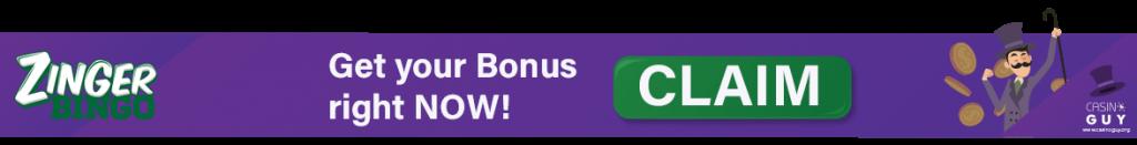 banner zinger bingo bonus