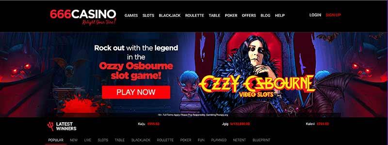 casino 666 interface screenshot
