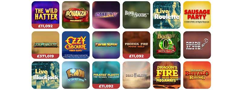 screenshot games 7casino