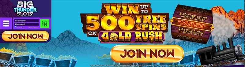 screenshot big thunder slots casino interface