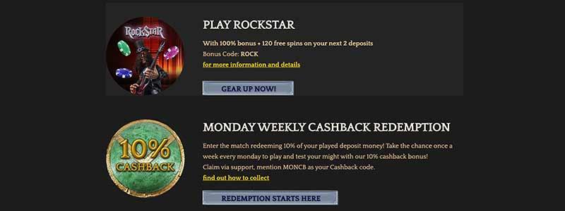 bronze casino bonus screenshot