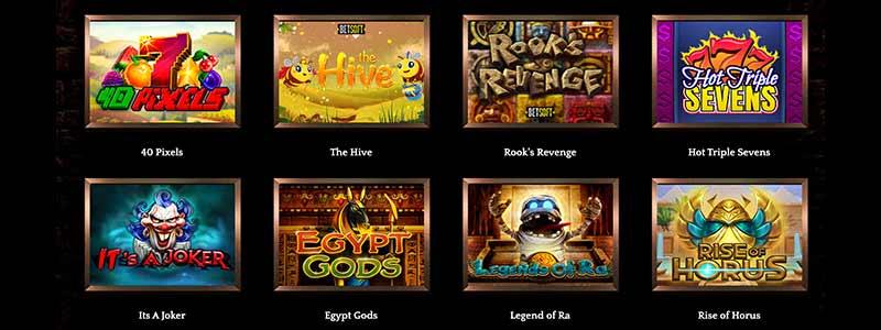 bronze casino games screenshot