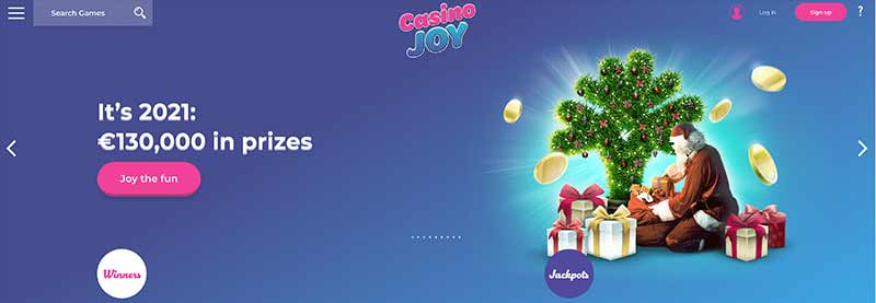 joy casino interface screenshot