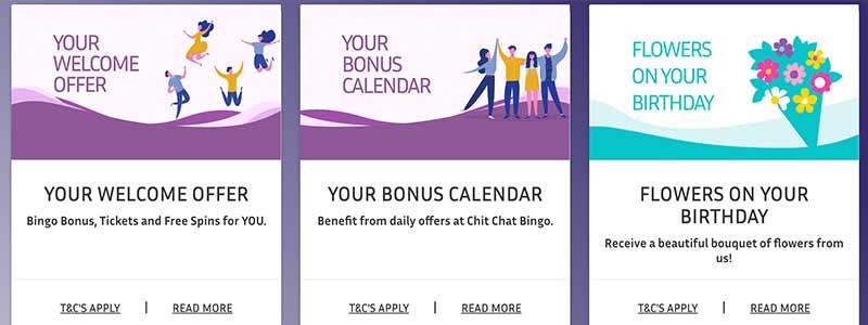 screenshot chitchat bingo bonus