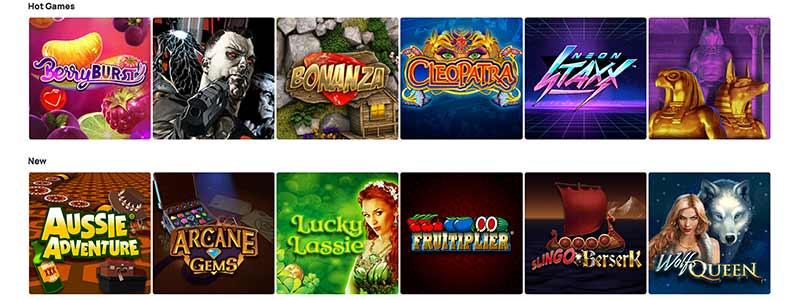 hunky bingo games screenshot