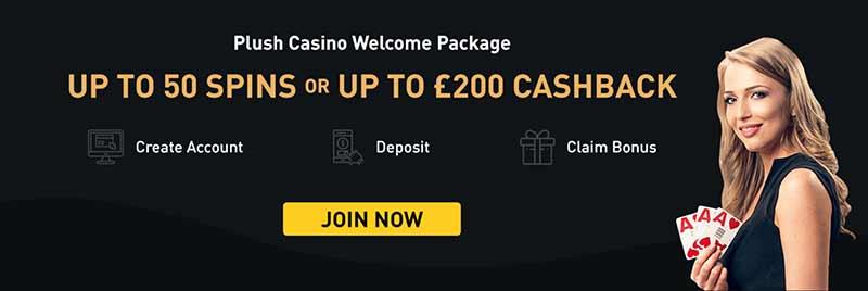 plush casino bonus screenshot