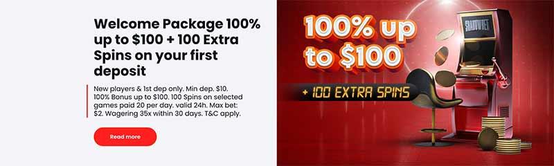 shadowbet casino bonus screenshot