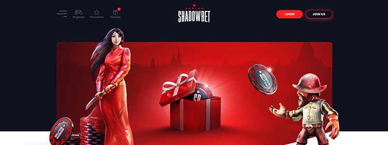 shadowbet casino interface screenshot