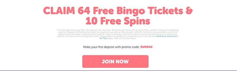 sundae bingo bonus screenshot