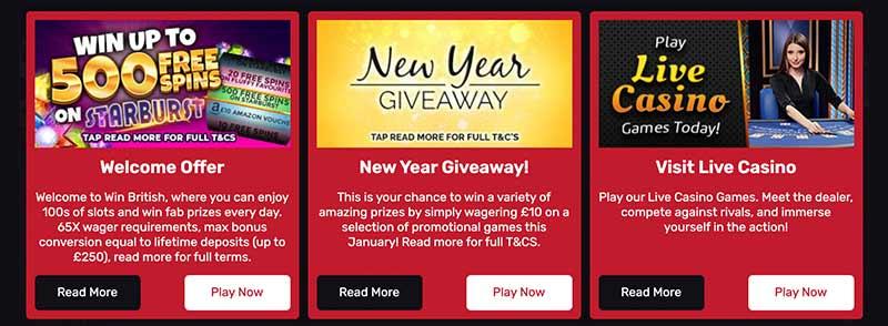 screenshot win british casino bonus