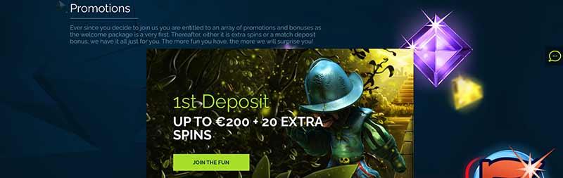 wixstars casino bonus screenshot
