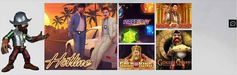 wixstars casino games screenshot