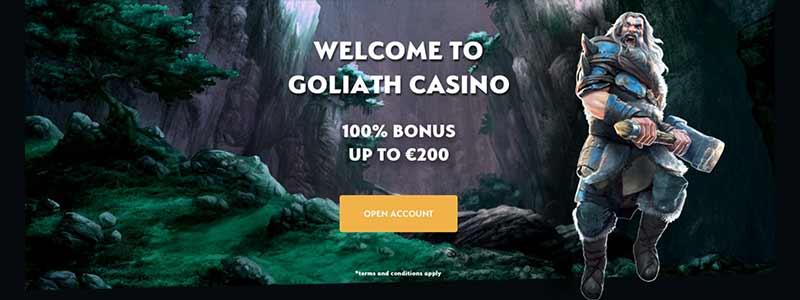 screenshot interface goliath casino