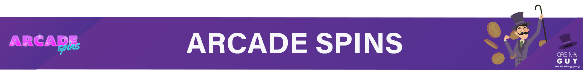 banner arcade spins
