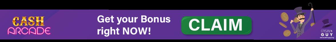 cash arcade banner bonus