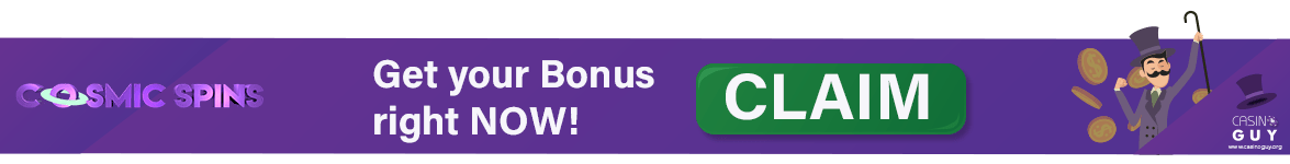 banner cosmic casino spins bonus