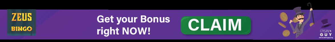 zeus bingo bonus banner