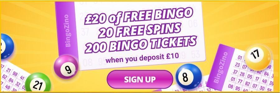 screenshot bingozino interface